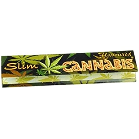 Trendz Cannabis - Papel para liar (tamaño grande, sabor a cannabis, un paquete)