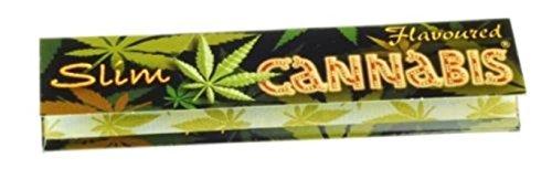 Trendz Cannabis-Zigarettenpapier, schmal, King-Size-Größe, mit Cannabis-Geschmack, 5 Packung à 32 Blatt