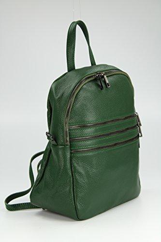 9896e6ebc23d6 ... BELLI Backpack Sacramento Leder Rucksack Schultertasche Handtasche  Cross Body Bag 3in1 - Farbauswahl - 33x28x14 cm ...