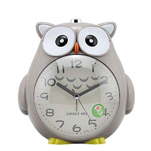 Jopee Eule Kinder Wecker mit lauter Alarm und Nachtlicht, snooze-Funktion für schwere Schläfer
