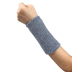 Bluestercool Unisex Baumwoll Band Armband Arm Schweißband für Basketball/Tennis/Gymnastik/Yoga