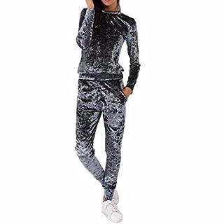 Ai.Moichien Velvet Women's Casual Turtle Neck Jersey Style Shirt Blouses Heram Pants Suit