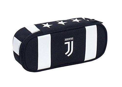 Bustina Round Plus Juventus, Bianco & Nero, Scomparto attrezzato per...