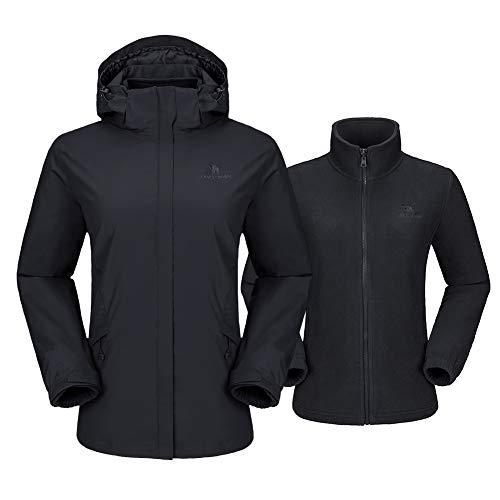 41fR8naxFvL. SS500  - CAMEL CROWN Women's Ski Jacket 3 in 1 Waterproof Windproof Softshell Mountain Jacket Fleece Lined for Hiking Snowboard…