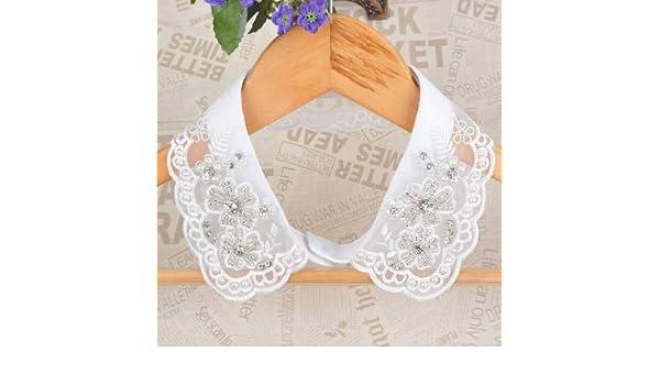 0f499f6922 BEESCLOVER Handmade Beading Shirt False Collar Women Spring and ...