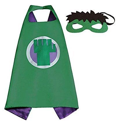squishybean 1Set Kinder Cape und Masken Hulk Kostüme Super Hero Kleid bis Hulk Kostüme Avengers Hulk Fancy Kleid