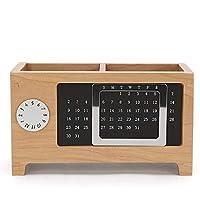 BingWS Pencil Pot Container Calendar Ornaments Desk Organizer Storage Box Pencil Holder Wooden Table Practical Pen Holder Scratch-resistant (Size : M)