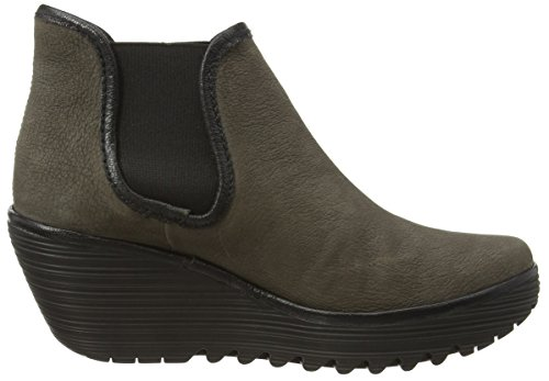 Fly London Yat, Boots femme Grau (Ground/Black 011)