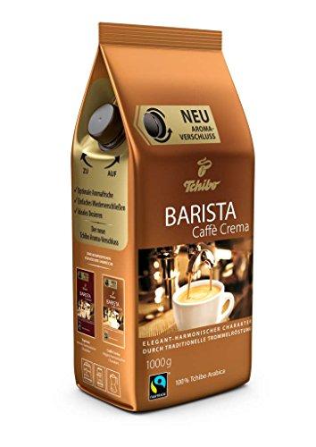 Tchibo Barista Caffè Crema 1Kg ganze Bohne - Kaffee-Genuss für Vollautomaten, Siebträger