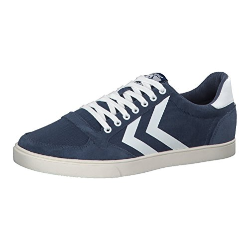 Hummel Unisex-Erwachsene Slimmer Stadil Mono Sneaker Blau (Vintage Indigo)