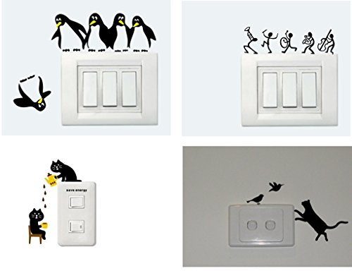 Asmi Collections Panel Stickers For Light Switches - Set Of 4