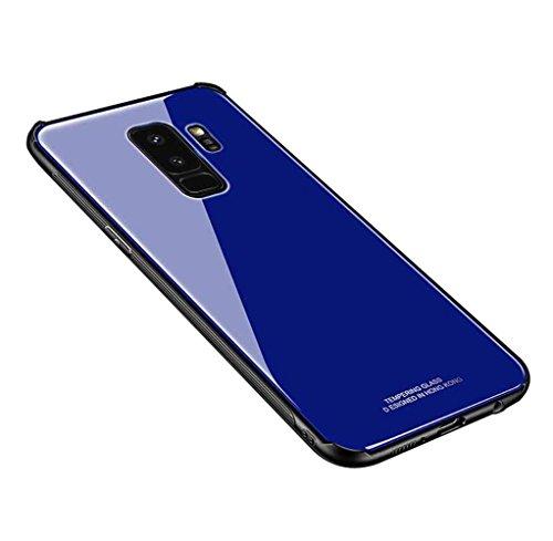 Galaxy S8 Hülle, SevenPanda Samsung S8 (TPU + Gehärtetes Glas) 2 in 1 Stoßdämpfung Doppelter Schutz Military-Grade Defender Hybrid Hülle für Samsung Galaxy S8 2017 - Blau