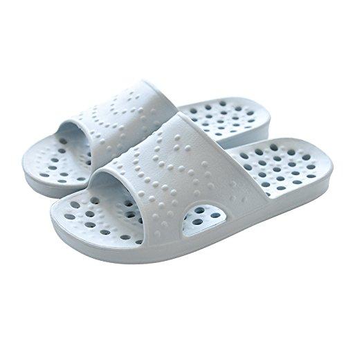 antiskid pantofole per in bagno,41 / 42 verde 41 / 42 grigio chiaro