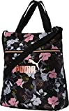 PUMA Wmn Core Seasonal Shopper, Borsa a Tracolla Donna, Black-Floral AOP, OSFA