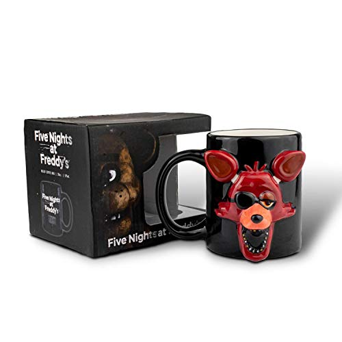 Five Nights at Freddy's Foxy Face Molded Relief Mug