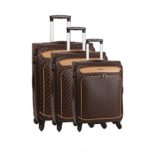 Set 3teiliges Kofferset 4Rollen und ein Beauty Case Smart PVC II Braun braun one size