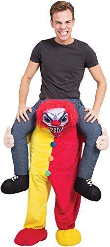Reiten Kostüm (Erwachsene Herren Damen Schritt darauf Reiten Horror Clown Halloween unheimlich TV Buch Film Film Kostüm Kleid)