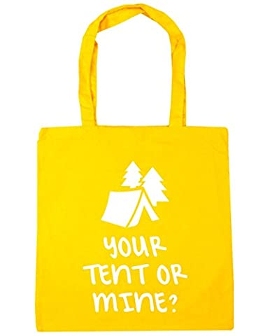 HippoWarehouse Your Tent Or Mine Tote Shopping Gym Beach Bag