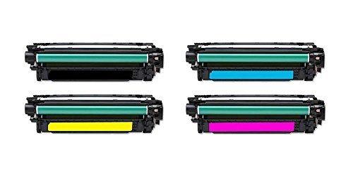 Preisvergleich Produktbild Cool Toner kompatibel Toner fuer CE400X CE401A CE402A CE403A fuer HP LaserJet Enterprise 500 color M551dn M551n M551xh MFP M575dn MFP M575F fuer HP LaserJet Pro 500 color MFP M570dn 570dw fuer HP LaserJet Enterprise 500 color Flow MFP 575c, K-11000, C/M/Y-6000 Seiten, 4 Pack