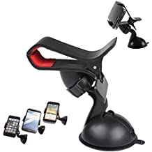 Case Supportive Clip On Grip 360° Windshield Windscreen Mini Car Mount Adjustable Rotatable Claw Holder Stand Cradle For KARBONN TITANIUM S4 Mobile Cellular Cell Phone