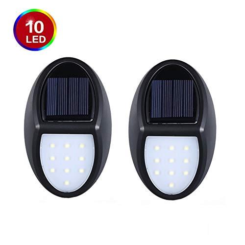 Solarlampen Für Außen,Solar wasserdichte Wandleuchte 【2019 Neuestes Modell 10 LED-60 Lumen】 gartenleuchten Solar Für Garten, Auffahrt, Hof