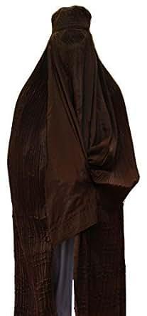 Authentisch Afghanen Burkha Damen Jilbab Abaya Schleier Niqab Schwarz Blau Rot Braun Weiß Kaftan - k.A., Braun