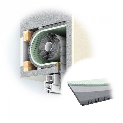 DIWARO® Rolladenkasten-Dämmung, 40 mm Dämmstärke, Länge 1000 mm, Jalousiekasten- Isolierung, Rolladendämmung, Wärmedämmung | ROKA THERMO FLEX | 40 mm | 500 mm, 650 mm oder 790 mm Breit (ROKA THERMO FLEX | 40 mm | 650 mm Breit)