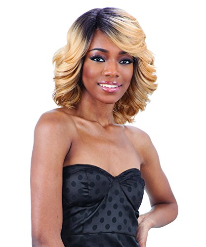 FreeTress Equal Lace Deep Diagonal Part Lace Front Wig - LOVE BLOSSOM (1 - Jet Black) by Freetress