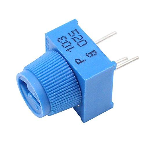 helloyee 10K Ohm Trimpot Rotary Steckplatine Trim Potentiometer mit Knauf für Arduino (10Stück)