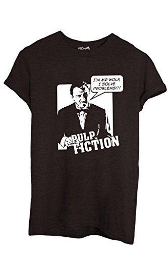 T-shirt mr wolf i solve problems pulp fiction-film by mush dress your style - uomo-m
