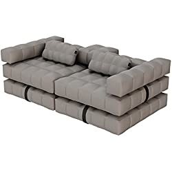 Pigro Felice Modul'Air Luxury Inflatable Sofa Set, stone grau, 234 x 117 x 72 cm, 921986-SGREY