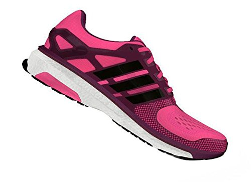 adidas Energy Boost 2 D66257, Scarpe da jogging Donna Pink-Black-Tribe Berry