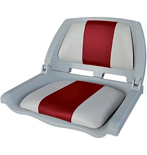 Preisvergleich Produktbild Klappsitz Kunststoffschale gepolstert grau-rot