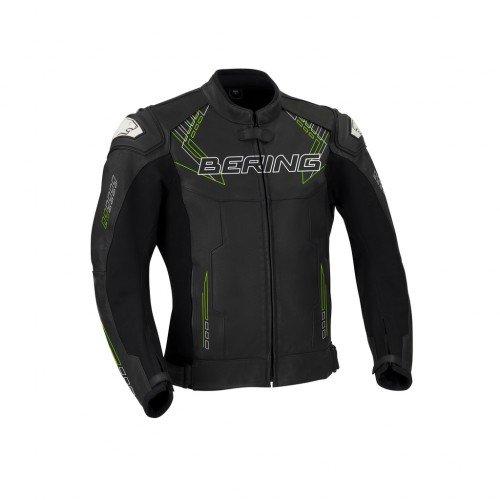 Bering Motorradjacken HUNT-R, Schwarz/Weiß/Fluoreszent, Größe 4XL