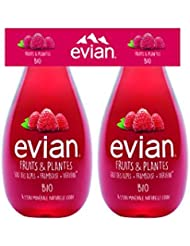Evian Fruits & Plantes Framboise/Verveine Bio 2 x 37 cl