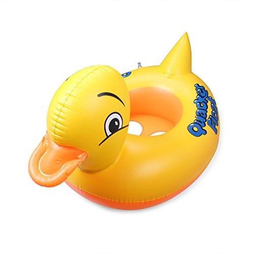 ewinever(TM) 1pcs Schwimmen Sommer-Kind-Baby aufblasbare Pool Sitzherbewegungs Boot schwimmenden Floß-Schwimmen-Ring-Gelb-Ente (Gelbes Floss)