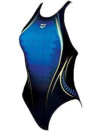 Arena W, Costume Intero Donna, Nero(Pix Blue), 44 IT