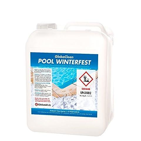 GlobaClean® Überwinterungskonzentrat 5L Pool Wintermittel schaumfrei Überwinterungsmittel für Swimmingpool Winterschutzmittel Schwimmbadpflege Winterkonservierer für Schwimmbecken