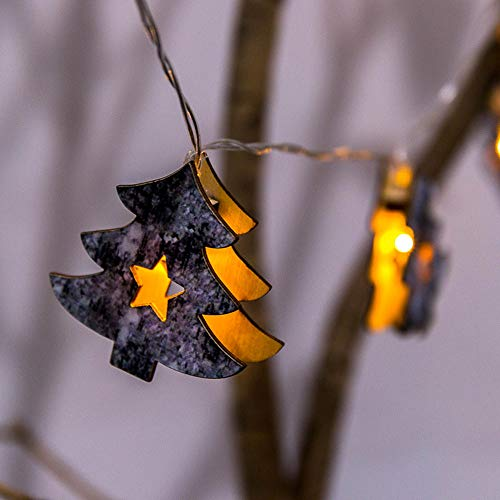 1.6 M Lichterkette 10 LED Lichter Weihnachtsbaum Fünfzackigen Stern Holzschnur Flaschenlicht Licht Kupferdraht Lichterketten FüR Flasche Party,Weihnachten,Hochzeit,AußEn/Innen Deko