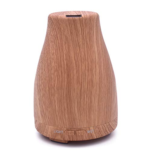 diffusore di aromi,Creative electronic aromatherapy machine, mini aerosol dispenser humidifier, desk surface mute night light atomizer - light wood color