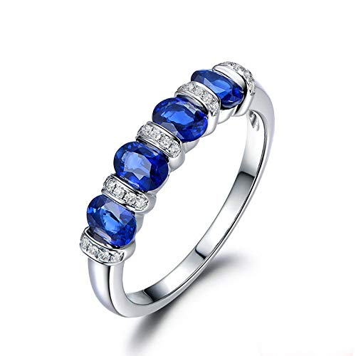 Anello fidanzamento donna argento 925 blu zirconi fedine fidanzamento blu misura 22