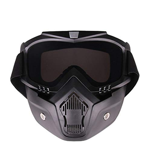 YHL Motocross-Brille Motorrad-Maske Mit Brille Mit Winddichtem Sand Anti-Friction Abnehmbar Für Das Fahren Im Freien,D -