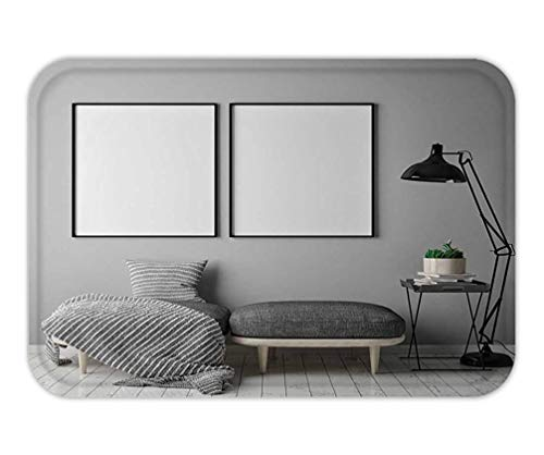 CHKWYN Doormat Mock up Poster Frame in Hipster Interior Background Scandinavian Style d Render d Illustration 15.7X23.6 Inches/40X60cm