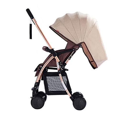 Xiaoping Zwei-Wege-Kinderwagen Ultra Light Portable One Button Car Folding Kind kann sitzen liegend Sommer Simple Umbrella Car (Color : 1)