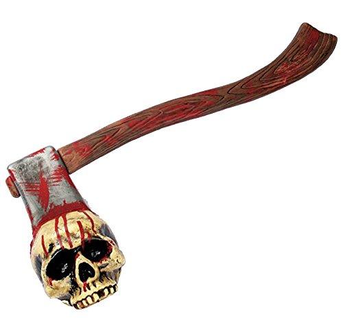 pf höllische Halloween Splatter Deko Mörder Axt steckt im Schädel Horror Oarty Hammer (Beil Durch Kopf Kostüm)