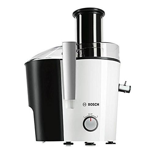 Bosch MES25G0 Entsafter VitaJuice 2 700 W, XL-Einfüllschacht, Edelstahl-Microfilter-Sieb, weiß/apfelgrün