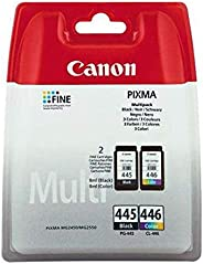 Canon PG445 and CL446 Combo Pack for iP2840 MG2440 MG2540 MG2940 Printers