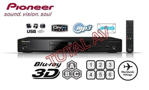 Pioneer BDP-150 Multi-Region 3D Blu-Ray Player - Multi Region für DVD Region 1-6 und Blu-Ray Region A, B & C mit USB - Wiedergabe von DivX, DivX + HD, 3gp videos, MKV, FLV, WMA, MP3-und JPEG-Dateien von Ihrem PC und anderen digitalen Geräten + Free JetFlash 4GB USB 2.0 Flash Drive + vergoldete HDMI-Kabel