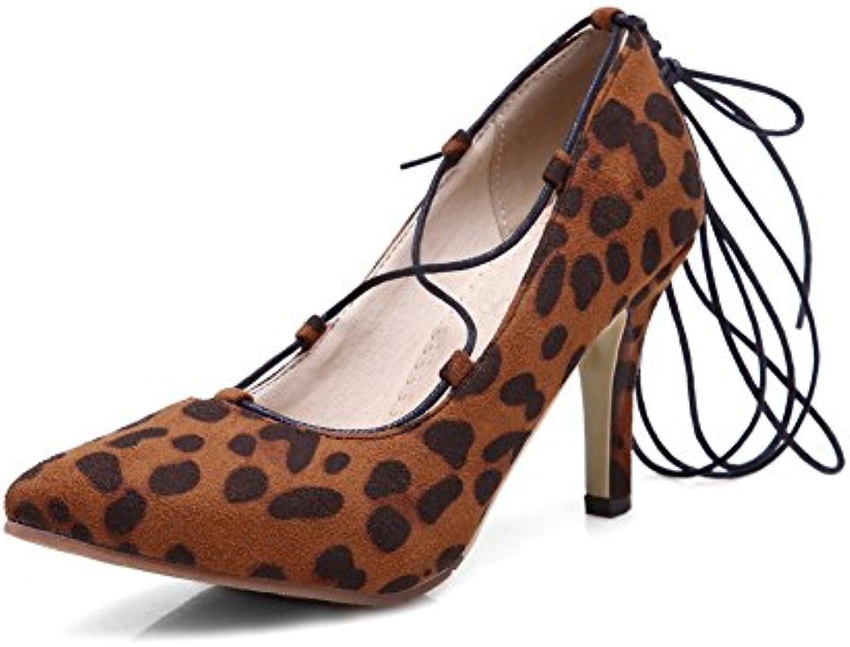 N A - Sandali con Zeppa Donna, (Leopard), 35   La Vendita Calda    Uomini/Donna Scarpa