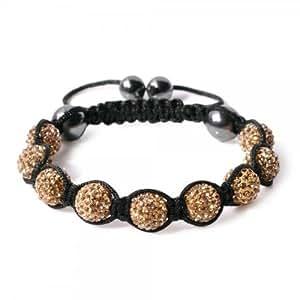 Eeazy-Gizmo® Gold Shamballa Bracelet Unisex Crystal Swarovski Beads